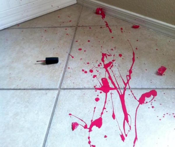 house cleaning tips - How to Clean Up a Nail Polish Spill