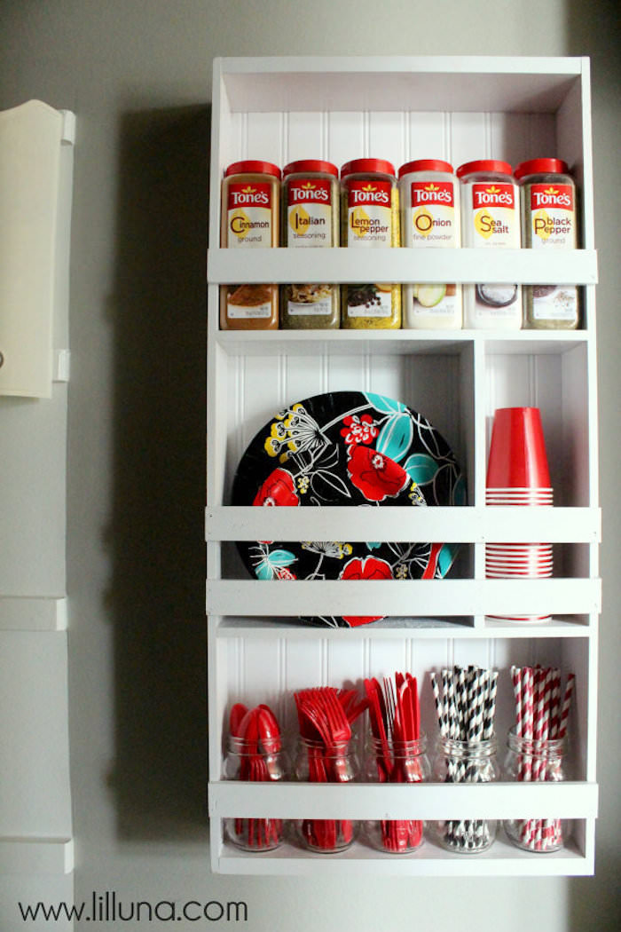 DIY pantry organizer shelving unit