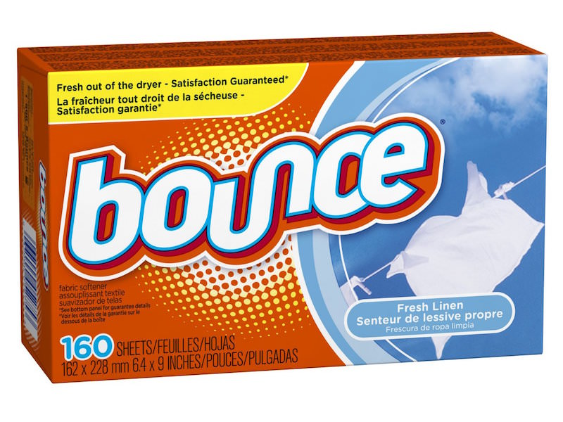 Bounce Dryer Sheets Calm Static in Your Hair