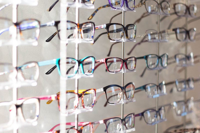 eyeglass frames at the store
