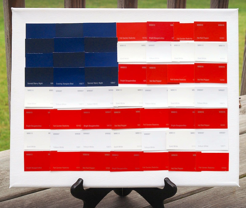 Fourth-of-July-canvas-flag-made-from-paint-chips