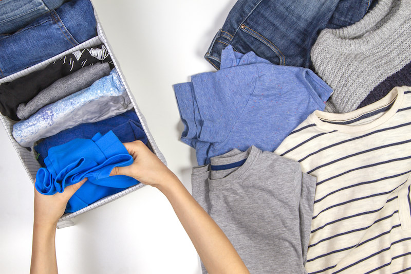 Decluttering your closets