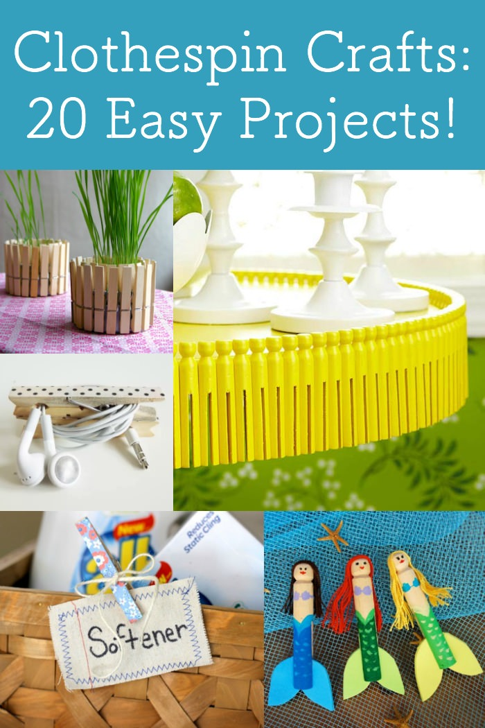 Clothespin Crafts 20 Fun Easy