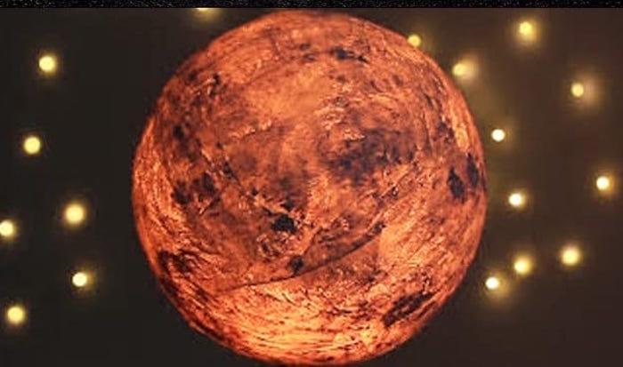 Papier Mache Moon Lamp
