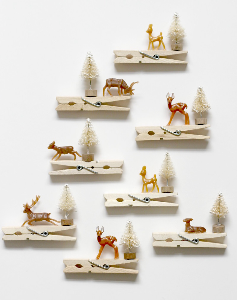 Clothespins as Ornaments or Gift Toppers