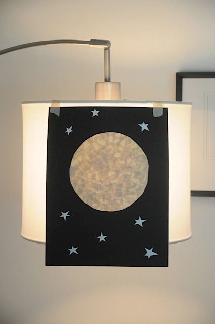 Glowing Moon with Masking Tape