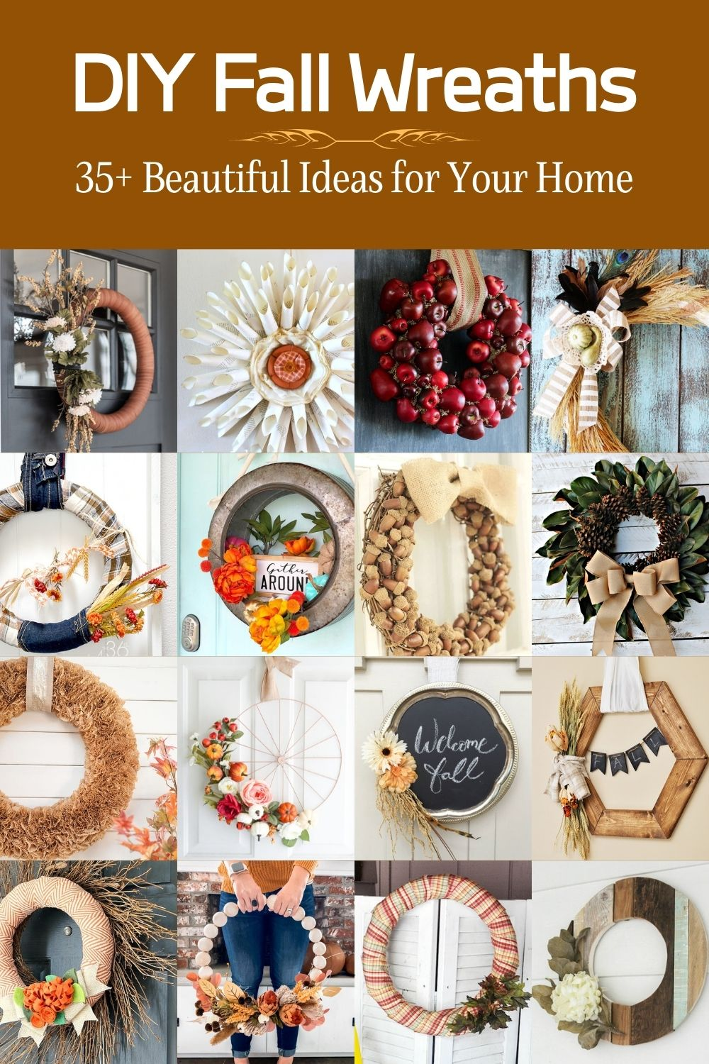 35+ Beautiful DIY Fall Wreath Ideas for Your Home