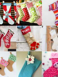 Over 35 DIY Christmas Stockings