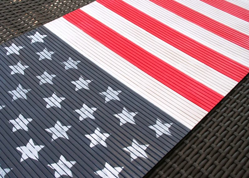 DIY Flag table runner