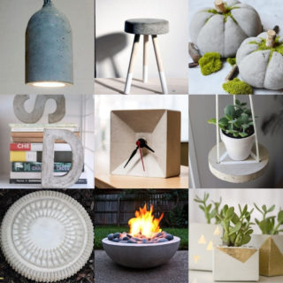Over 25 Concrete Projects for Home Decor