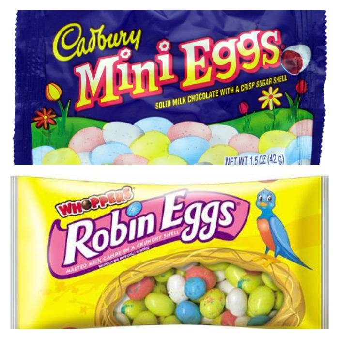 Cadbury Mini Eggs and Robin Eggs