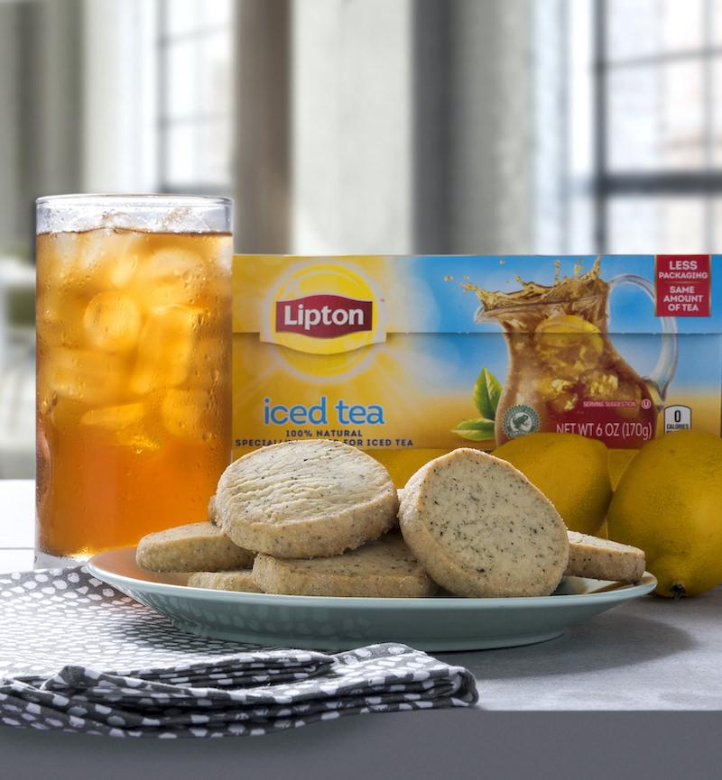 Shortbread tea cookies recipe and Lipton tea