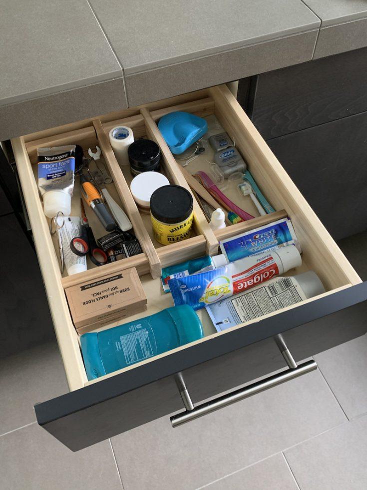 DIY drawer divider