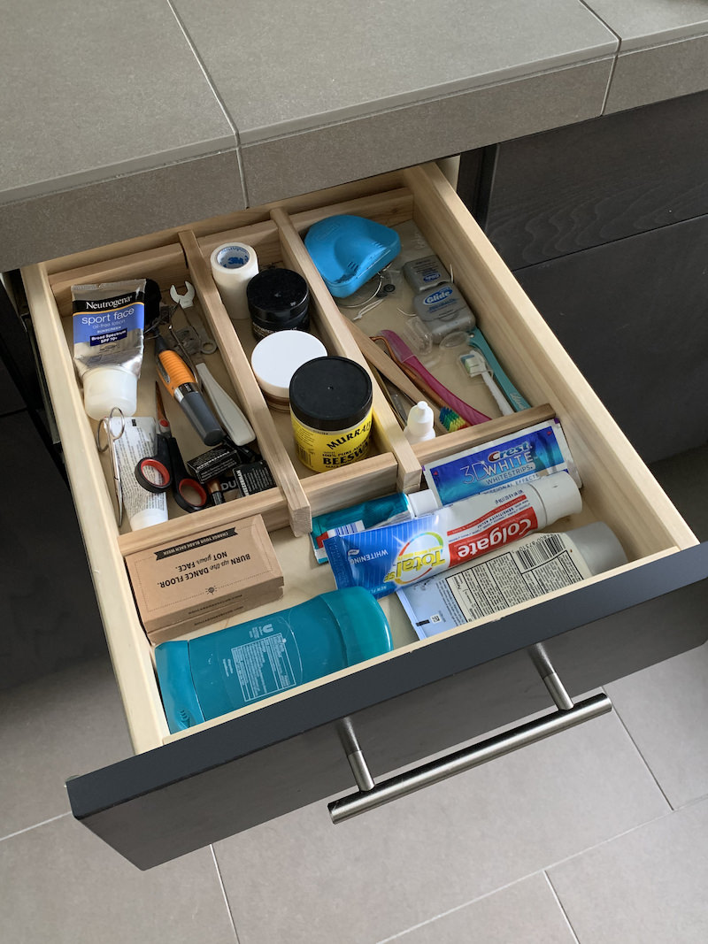 DIY drawer divider
