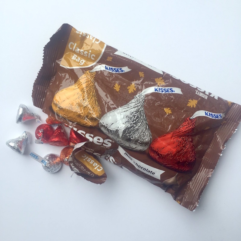 Bag of Hershey's kisses for fall