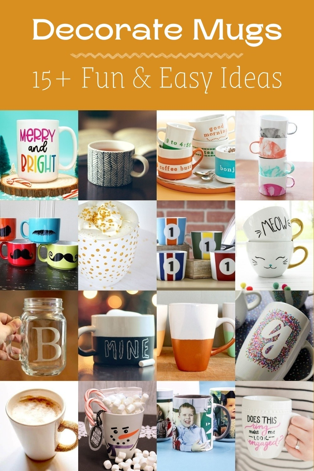 Over 15 Ways to Decorate Mugs