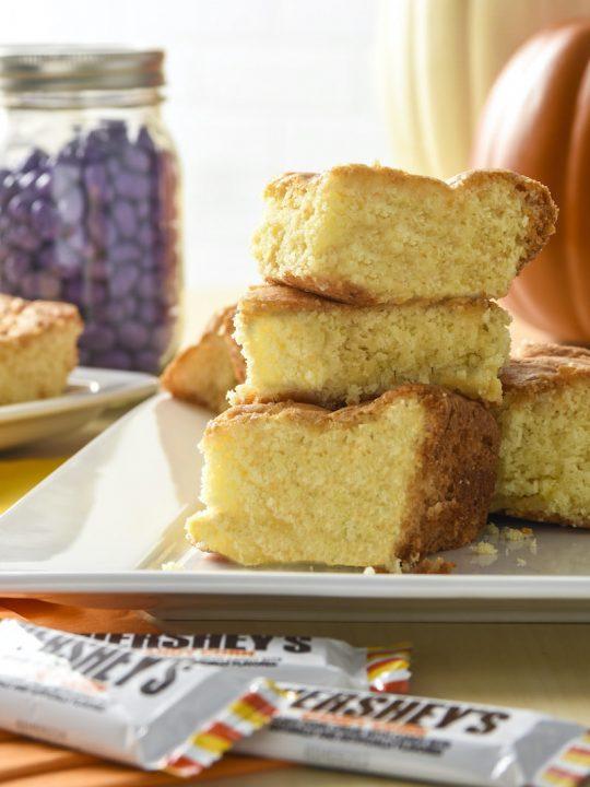 Candy corn cake bars