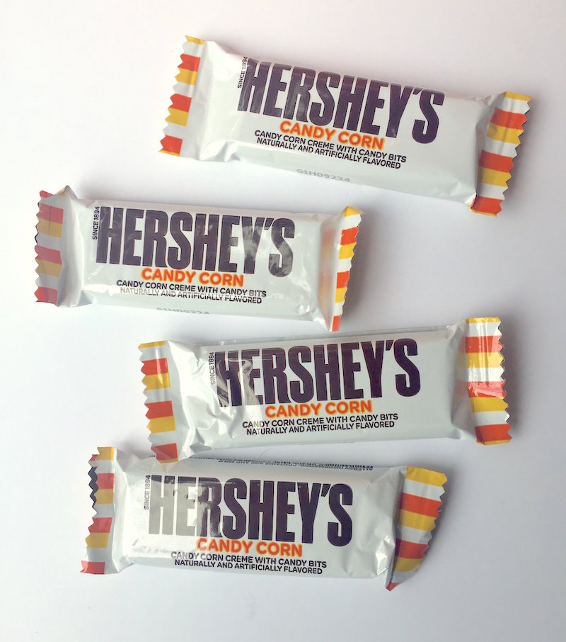 Hershey's candy corn candy bars