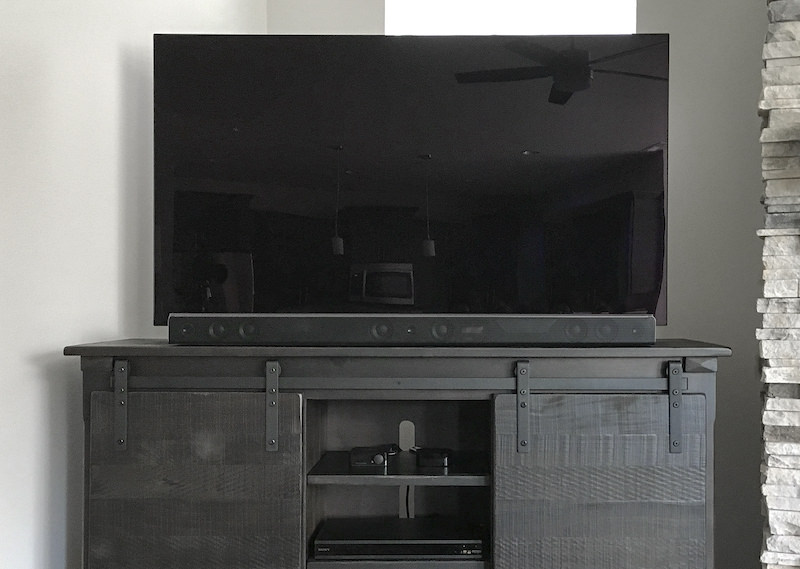 Television-and-sound-bar