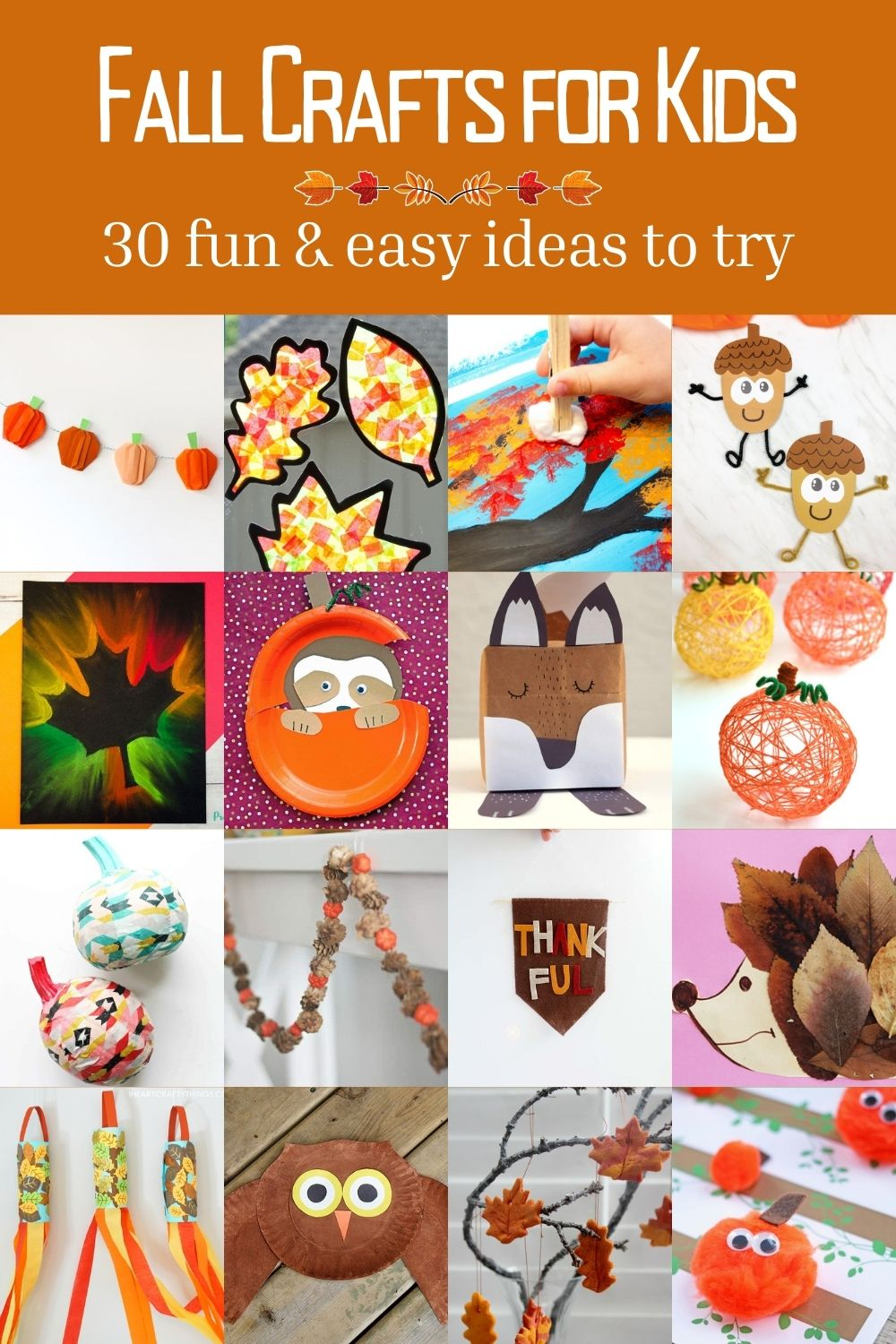 30 Fun & Easy Fall Crafts for Kids