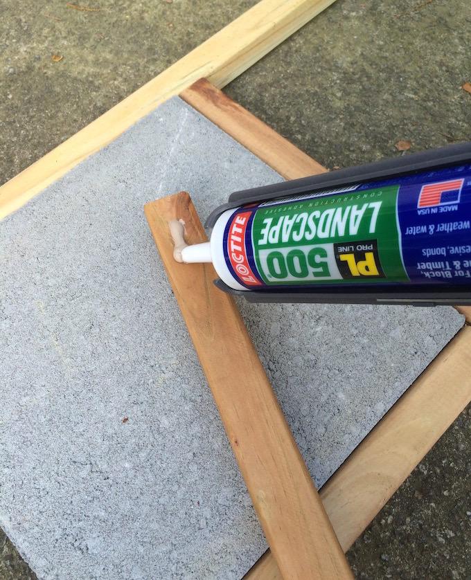 Adding epoxy to a 2x2