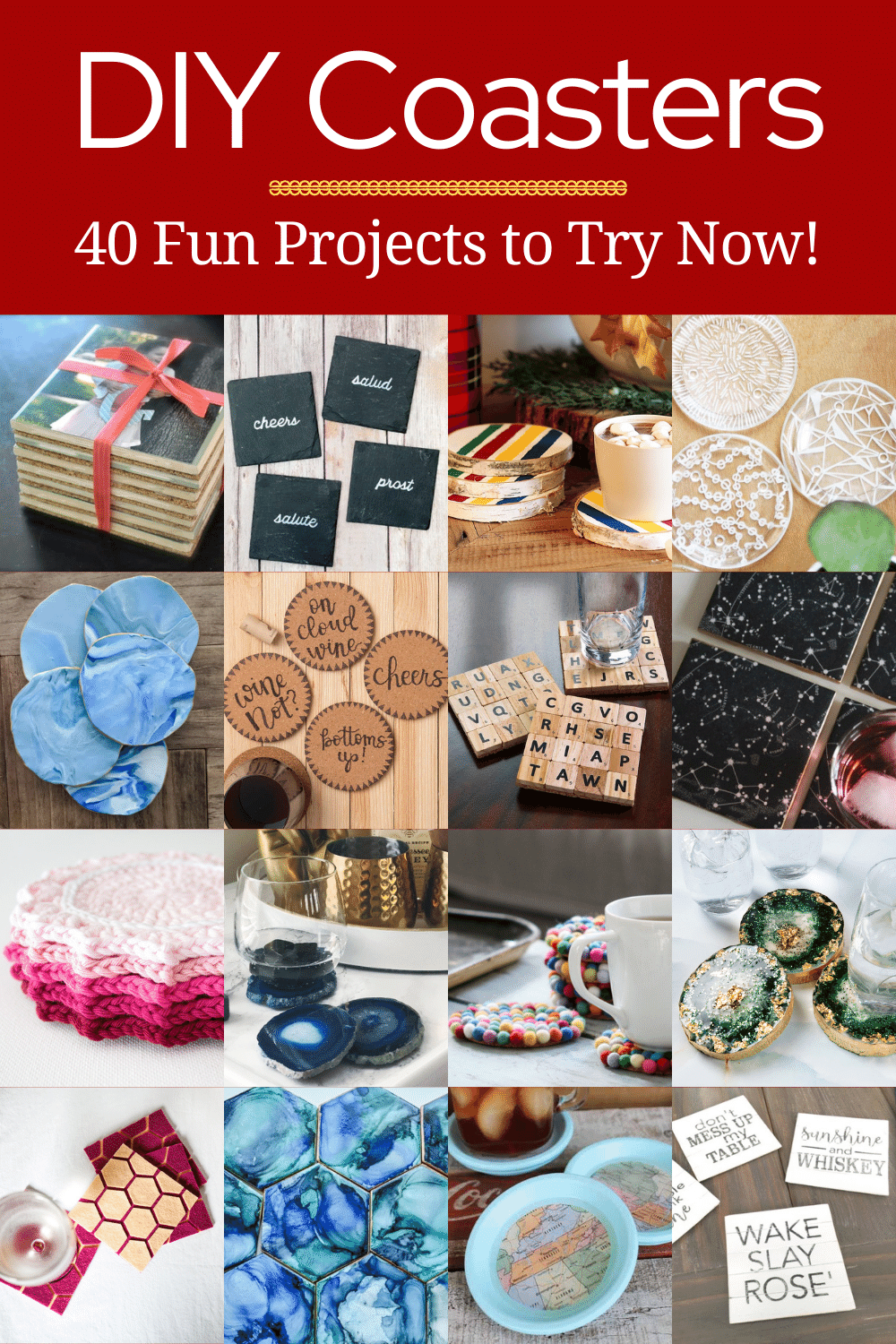 DIY Coasters: 40 fun projects to try
