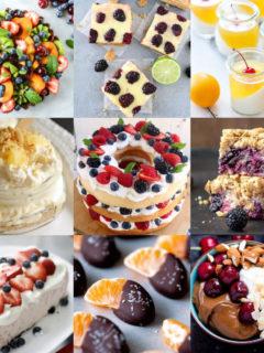 Fruit dessert recipes feature image
