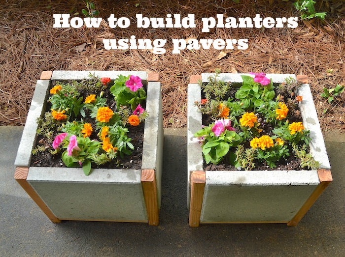 How to build planters using pavers
