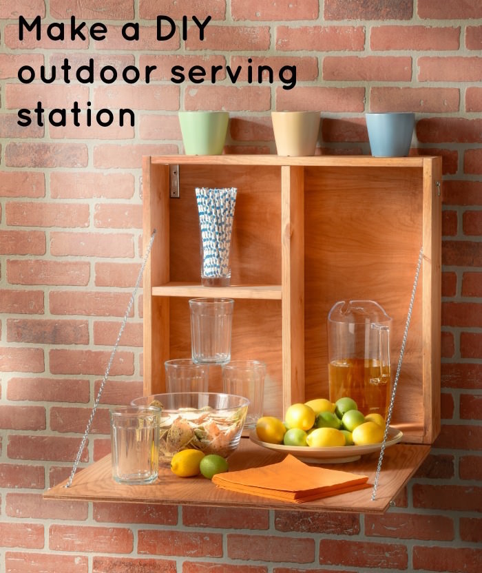 How to make a DIY outdoor serving station