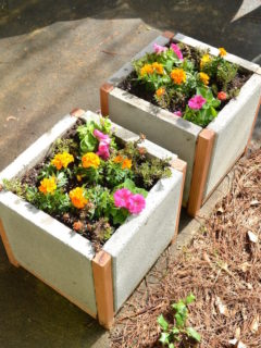 How to make paver planters