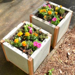 How to make paver planters