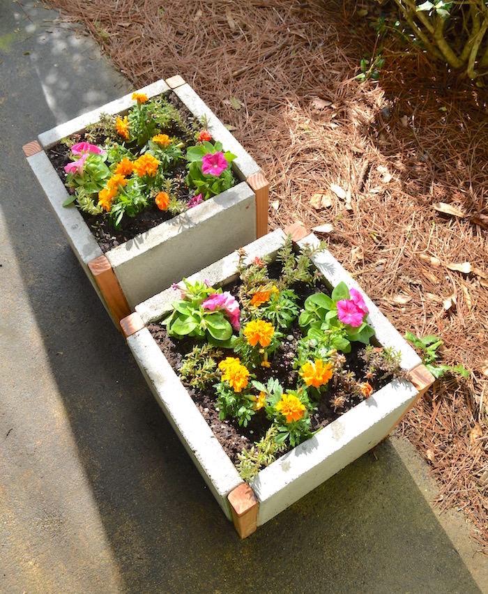 paver planter boxes