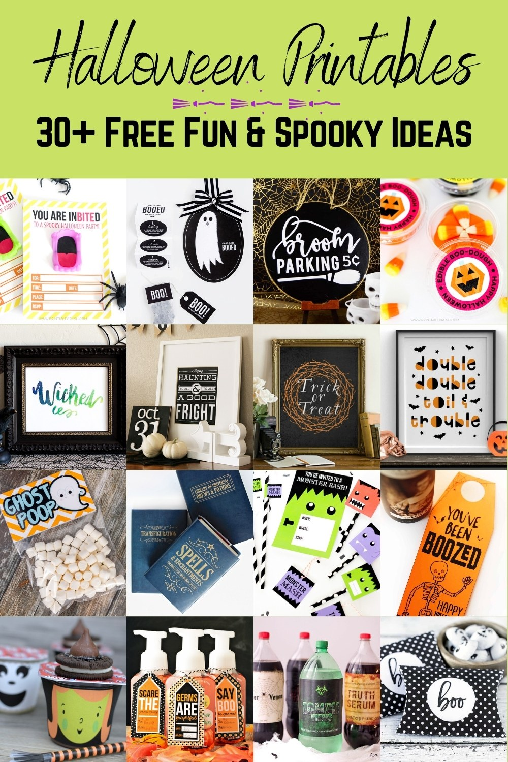 33 Fun and Spooky Free Halloween Printables