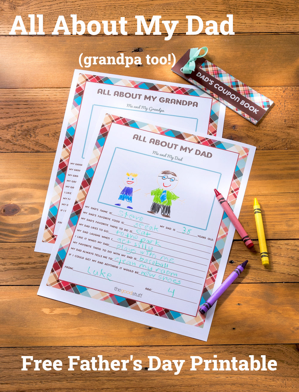 All-About-My-Dad free Father's Day printable