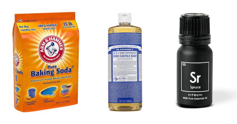 Ingredients for DIY soft scrub