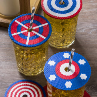 Perler bead drink covers for 4th of July