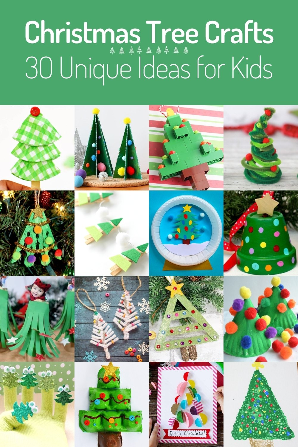 Unique Christmas Tree Crafts for Kids