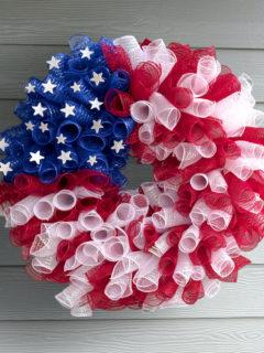 4th of july mesh wreath