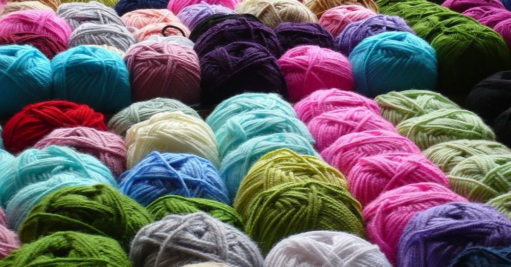 Collection of skeins of yarn