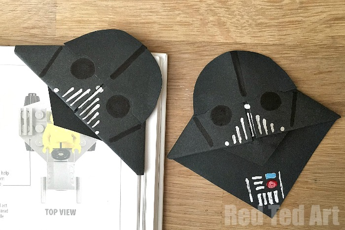 Easy DIY Drath Vader Bookmark a perfect little gift for Fathers Day