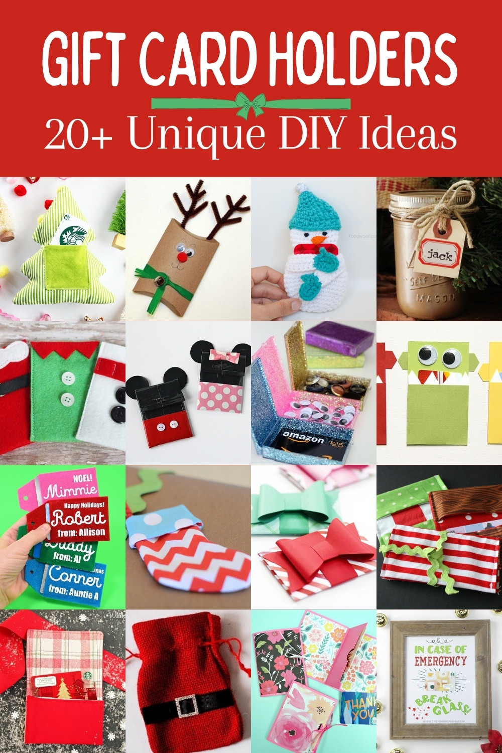 Over 20 DIY Gift Card Holders