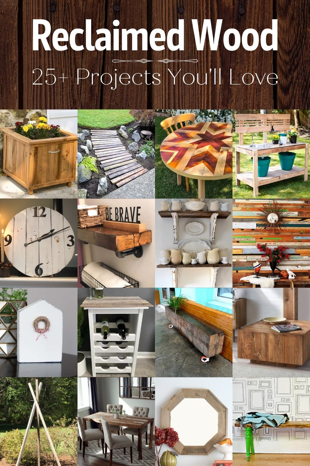 Over 25 Reclaimed Wood Projects You'll Love