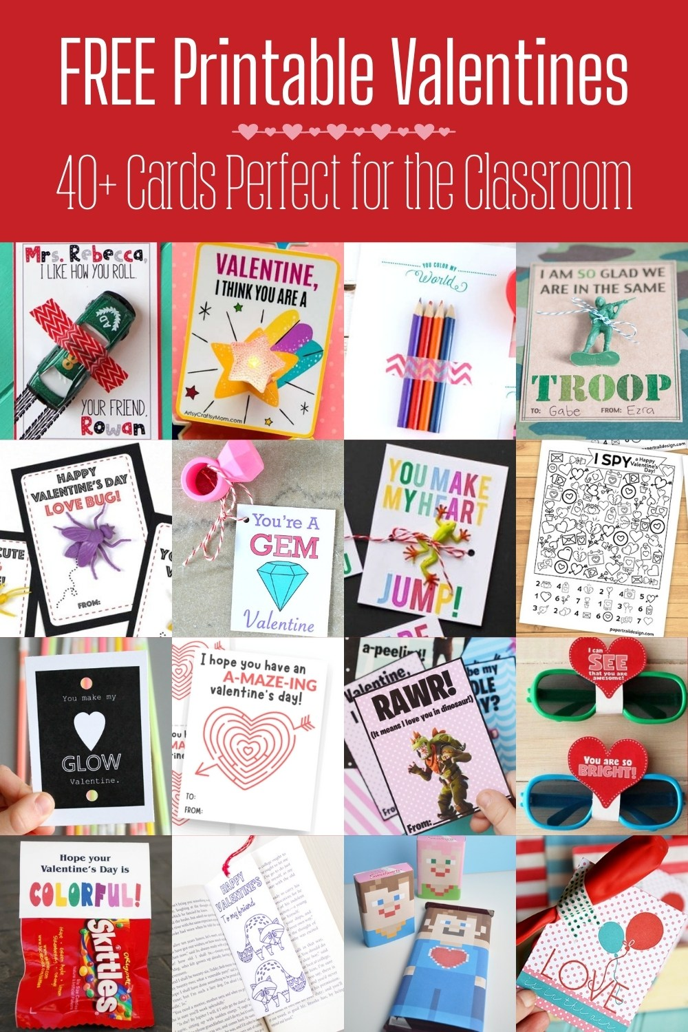 Free Printable Valentines for the Classroom