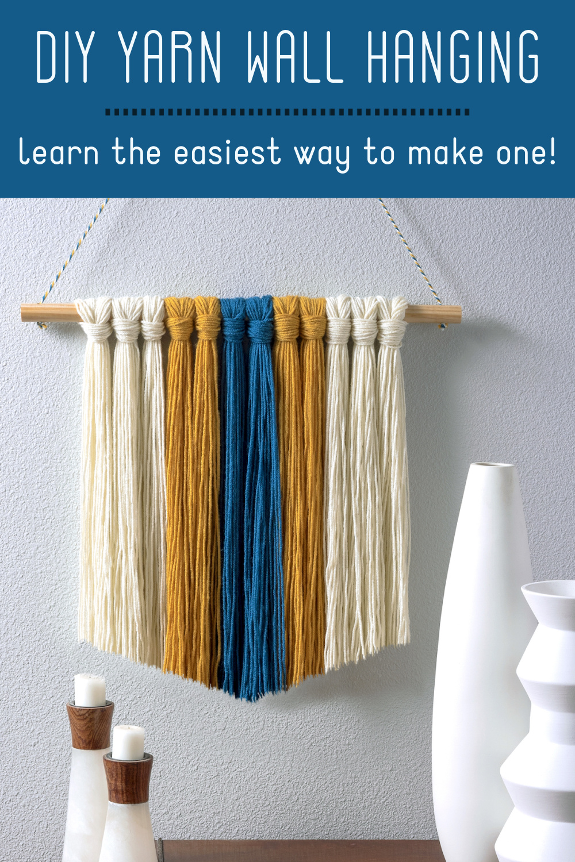 Make a yarn wall hanging
