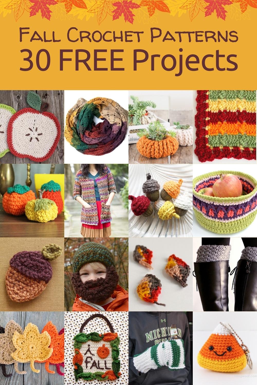 30 free fall crochet patterns