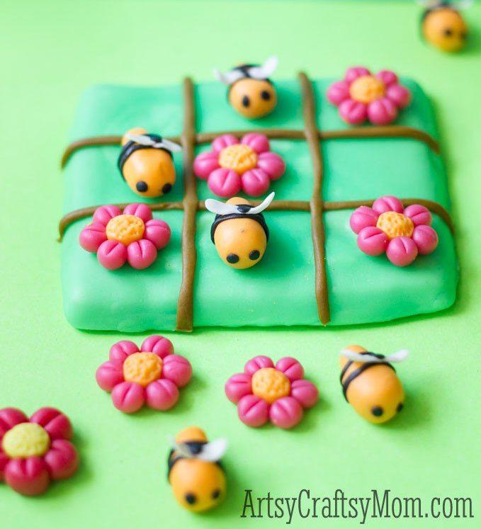 Clay Bee Tic Tac Toe craft e1625855462418