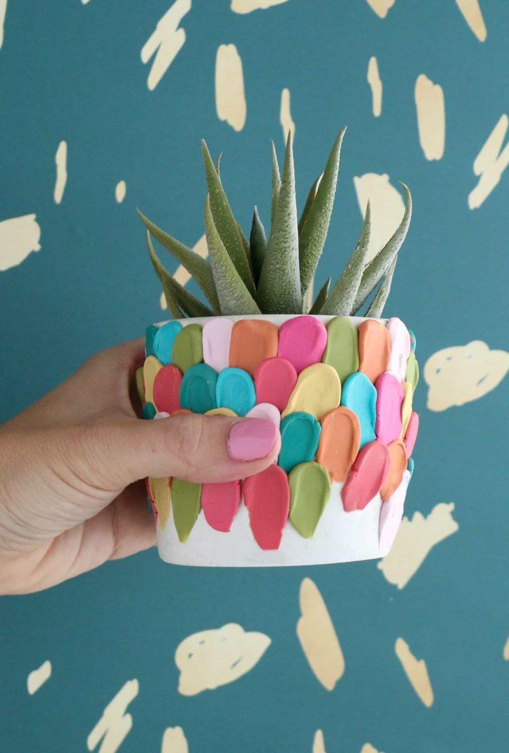 Make a Clay Petal Planter 10