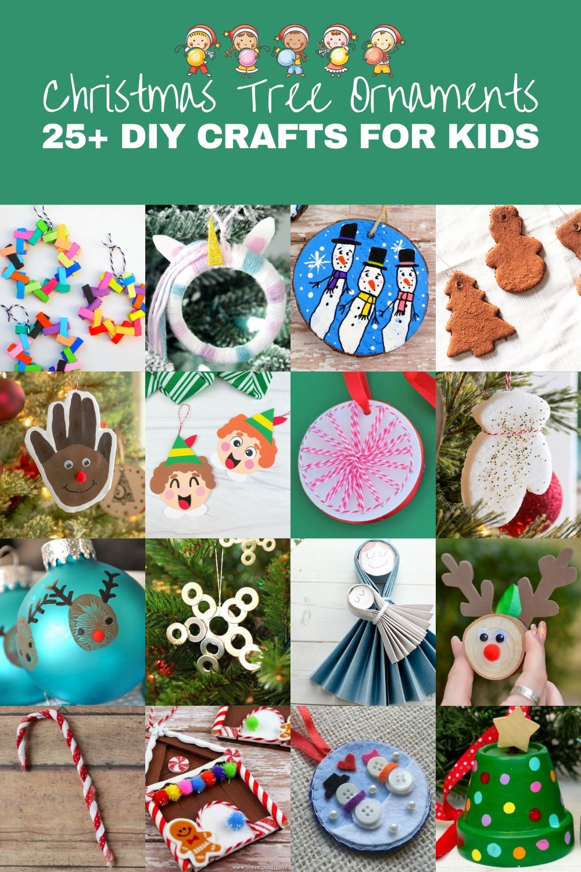 Over 25 DIY Christmas Ornaments for Kids