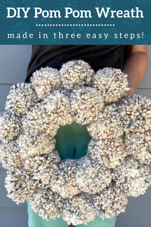 anthropologie pom pom wreath