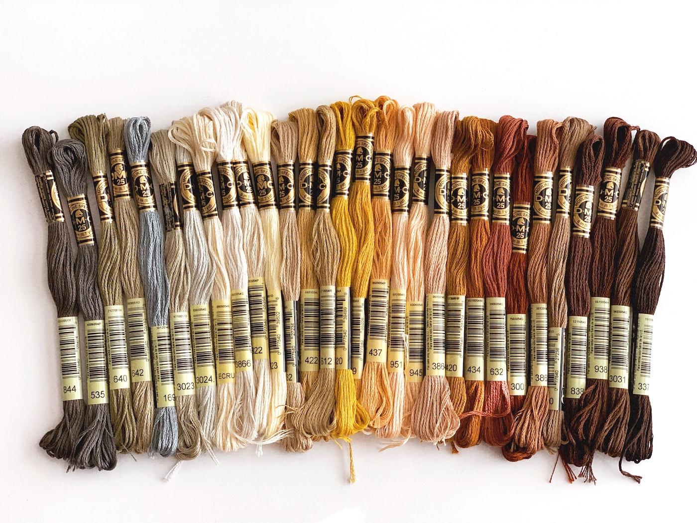 Meadas de fio de bordar